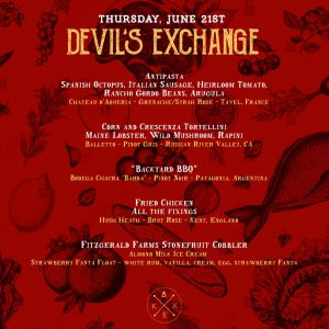 Murder Mystery Devil's Exchange 5 Course Dinner and Pairing