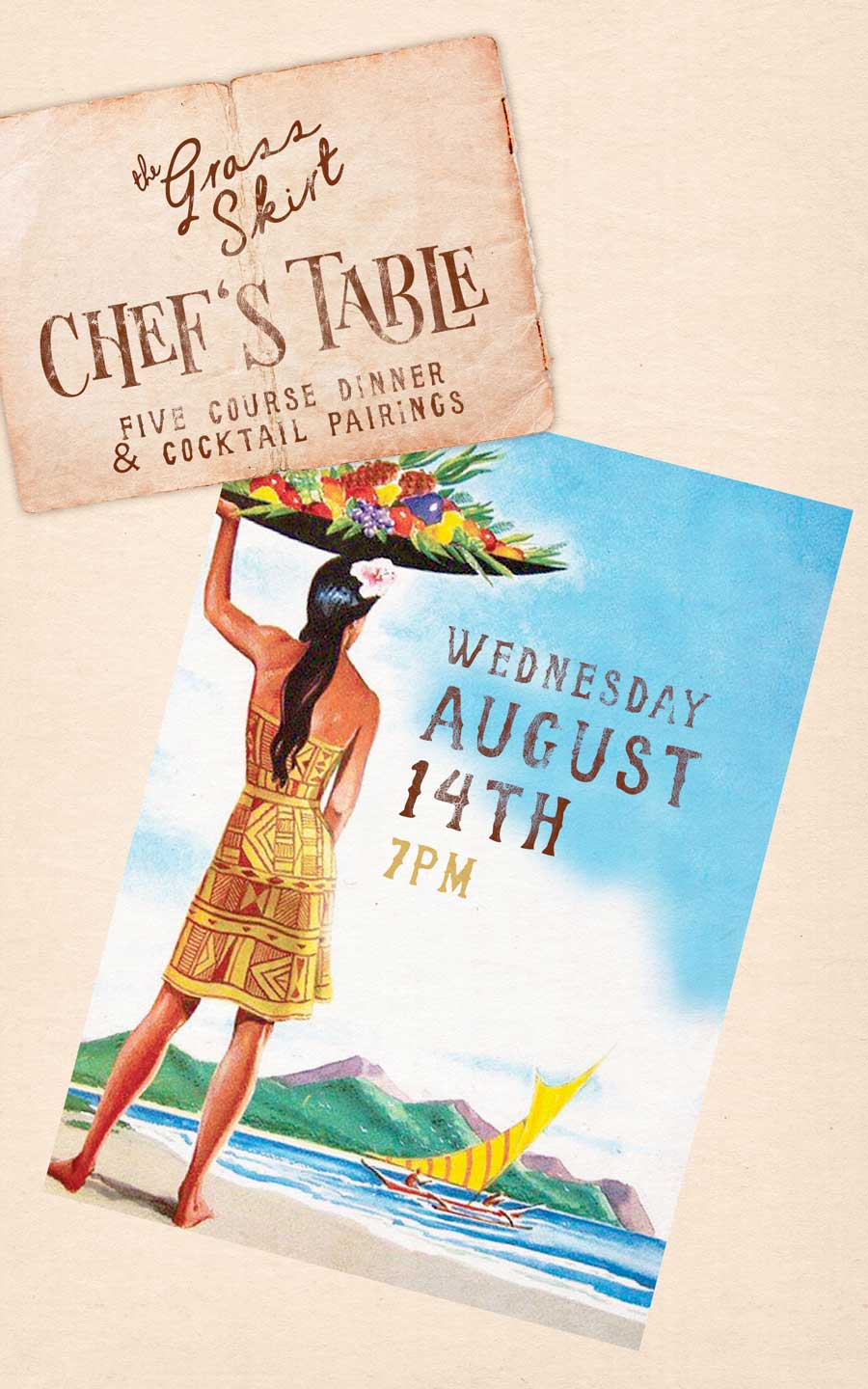 Chef's Table at The Grass Skirt - August 14th - SDCM Restaurant Group
